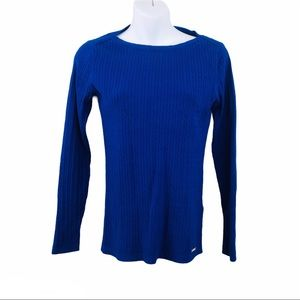 Tommy Hilfiger blue long sleeve sweater size Small